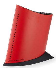 Global - 5 Piece Knife Block - Red With Black Dots