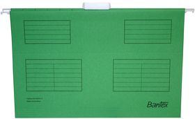 Bantex Suspension File Foolscap Retail Pack - Grass Green (Pack of 10)