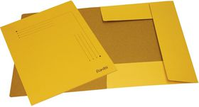 Bantex 3 Flap Document Smart Folder - Yellow (Pack of 10)