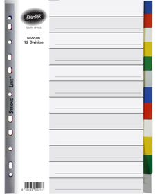 Bantex A4 12 Division P.P File Dividers