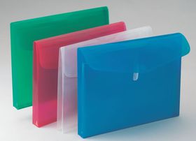 Bantex Polypropylene A4 Expandable Envelopes - Clear (Pack of 5)