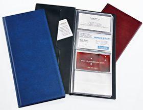 Bantex Business Card Holder - Standard Range - 96 Card Capacity -  Black