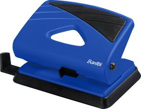 Bantex Medium Home 2 Hole Punch - Cobalt Blue