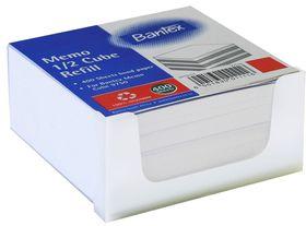 Bantex Memo Half Cube Refill 400s - White