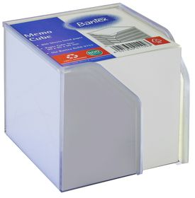 Bantex Memo Cube Plastic Holder - White