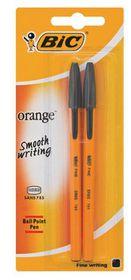 BIC Orange Fine Ballpoint Pens - Black (Blister of 2)