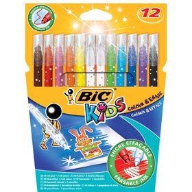 BIC Kids Colour & Erase 12 Felt Pens