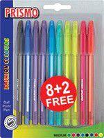 BIC Prismo 8+2 Fashion Colours Ballpoint Pens