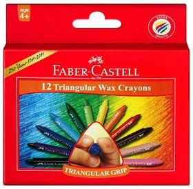 Faber-Castell 12 Triangular Wax Crayons