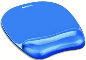 Fellowes Crystals Gel Mouse Pad/Wrist Support - Blue