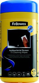 Fellowes Screen Cleaning Antibacterial Wipes (Tub) 75 + 33% Free