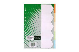 Croxley JD1477 Pastel Rainbow A4 5 Part Dividers