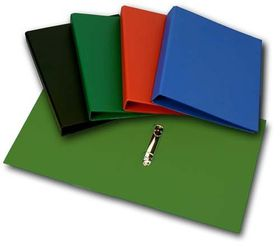 Croxley S1220 A4 2 O-Ring 25mm Polyprop Ringbinder - Green