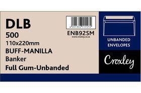 Croxley Brown Gummed Unbanded (Springbok) Envelopes (Box of 500)