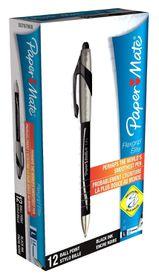 Paper Mate Flexgrip Elite Ball Pen - Black (Box of 12)