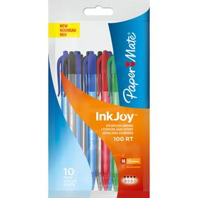 PaperMate Inkjoy 100 Retractable Ballpoint Pens - Assorted (Pack of 10)
