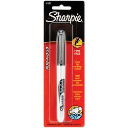 Sharpie Fine Laundry Permanent Marker - Black (Carded 1's)