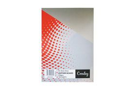 Croxley Binding Leather Board 250gsm - Gloss Silver (Pack of 100)