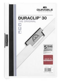 Durable Duraclip 30 Page A4 Folder - White