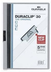 Durable Duraclip 30 Page Folder - Grey