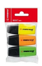 Stabilo Boss Mini Highlighers (Pack of 3)