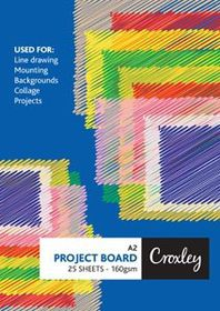 Croxley Project Board 160gsm A2 - 25 Sheets Black
