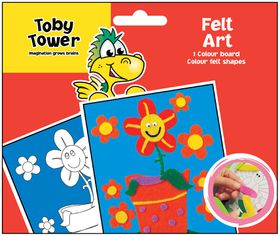 Toby Tower Felt Art - Flower Pot