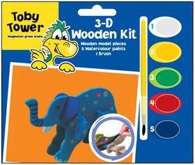 Toby Tower 3D Wooden Kit - Elephant
