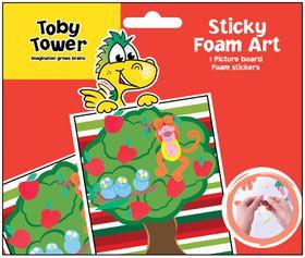 Toby Tower Sticky Foam Art - Monkey