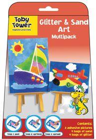 Toby Tower Glitter & Sand Art Multipack - Boat & Plane
