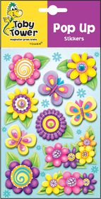 Toby Tower Pop Up Stickers - Flowers 1