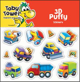 Toby Tower Puffy Stickers - Construction 1