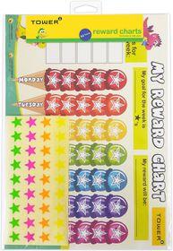 Tower Kids A4 Reward Chart - English