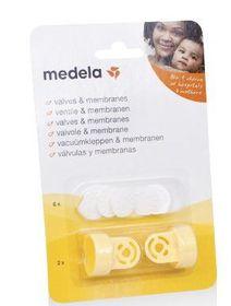 Medela - 2 Valve Heads and 6 Membranes For Medela - Breastpump