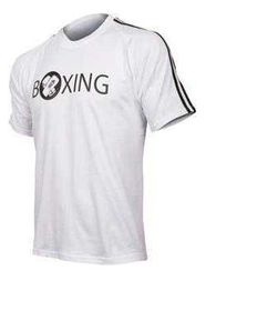 Mens adidas Half Sleeve Boxing Tee - White
