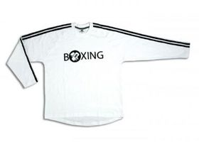 Mens adidas Full Sleeve Boxing Tee - White