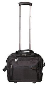 Tosca Classic Deluxe 1680D Laptop Trolley Briefcase 15 Inch - Black