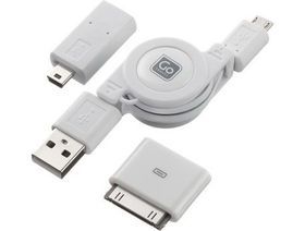 Go Travel USB Charging Cable Set