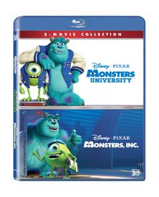 Monsters Box Set: Monsters Inc & Monsters University (3D Blu-ray)