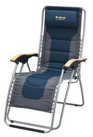 OZtrail - Deluxe Sun Lounger - Navy Blue / Grey