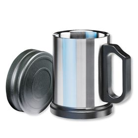 Isosteel - Stainless Steel Drinking Mug 400ml - Silver