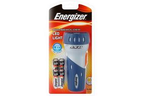 Energizer - LED4AA Household Compact LED Flashlight - White & Blue