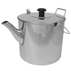 OZtrail - Billy Teapot 1800ml Stainless Steel - Silver