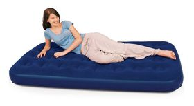 Bestway - Flocked Twin Airbed - Blue