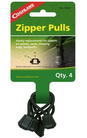 Coghlan's - Zipper Pulls Pack of 4 - Black
