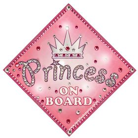 Jackflash - Baby On Board Sign - *BLING* - Princess Crown