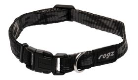 Rogz Small Alpinist Kilimanjaro Dog Collar - 11mm Black