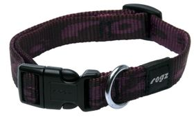 Rogz Medium Alpinist Matterhorn Dog Collar - 16mm Purple
