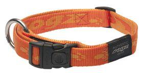 Rogz Large Alpinist K2 Dog Collar - 20mm Orange