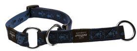 Rogz Extra-Large Alpinist Everest Web Half-Check Dog Collar  - 25mm Blue
